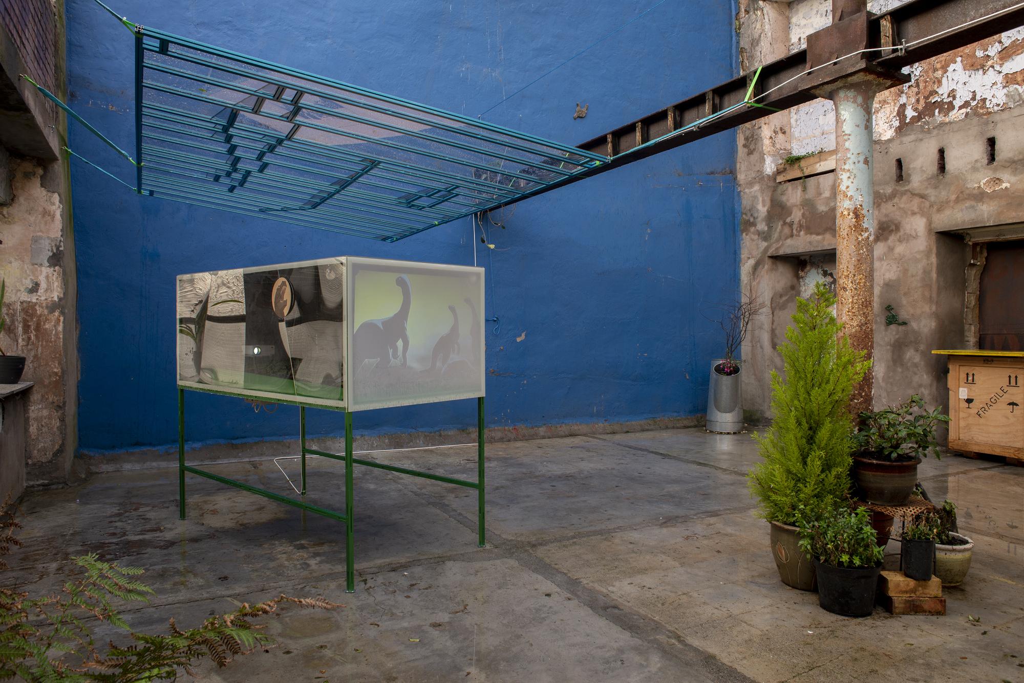 Garden1 - Cinema for Basil, Mirko Canesi, Contra, Garden, 2018 at David Dale Gallery, Glasgow